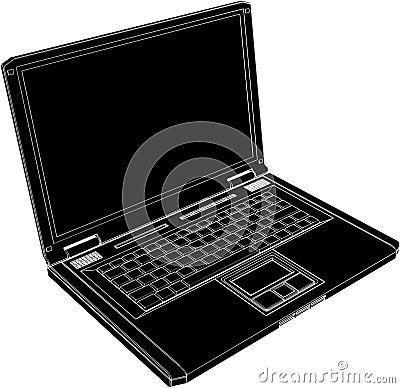Computer Laptop Vector 02