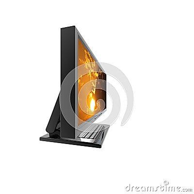 Computer lcd flat monitor