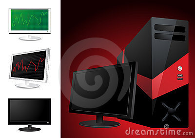 Computer and lcd monitor