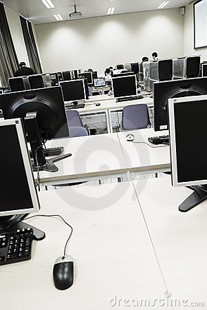 Free Computer Learning Room Royalty Free Stock Image - 3574706
