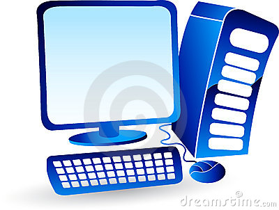 Illustration art of a computer logo with isolated background.