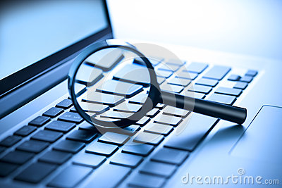 Computer Magnifying Glass Security