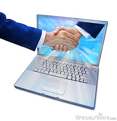 Computer Marketing Business Handshake