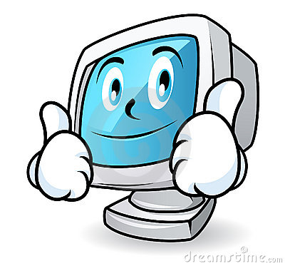 Free Computer Mascot - Thumbs Up Royalty Free Stock Images - 9699899