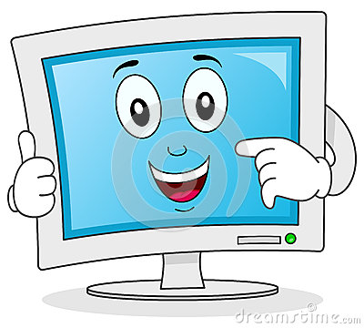 Computer Monitor Cartoon Character