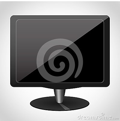 Computer monitor icon for websites UI