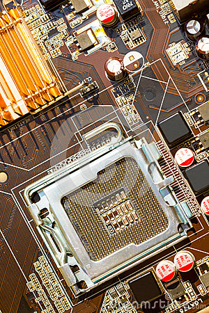 Free Computer Motherboard Royalty Free Stock Photo - 47376305