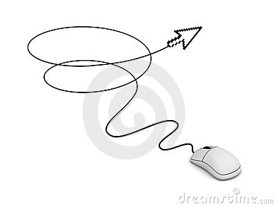Computer mouse and arrow cursor