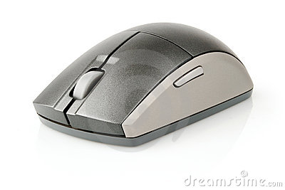 Computer mouse black and grey