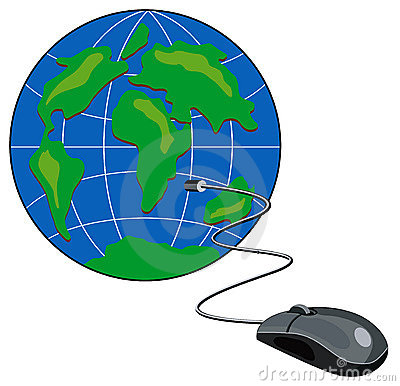 Computer mouse connected