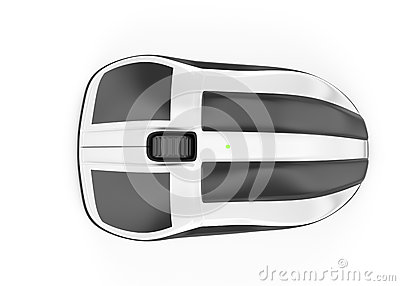 Computer mouse. top view