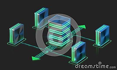 Computer networks. Main server scheme.