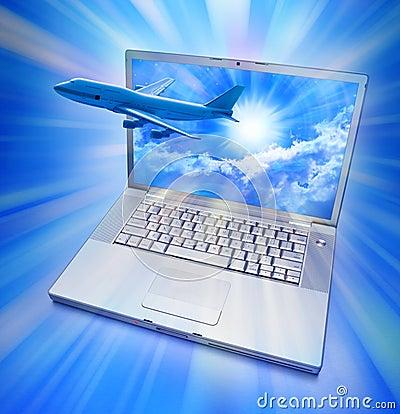 Computer Online Travel Airplane