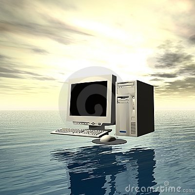 Computer over water