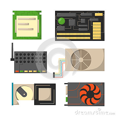 Free Computer Parts Network Component Accessories Various Electronics Devices And Desktop Pc Processor Drive Hardware Memory Royalty Free Stock Photos - 86702068