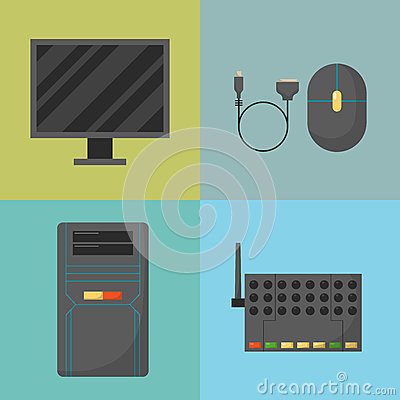 Free Computer Parts Network Component Accessories Various Electronics Devices And Desktop Pc Processor Drive Hardware Memory Royalty Free Stock Photo - 87046305