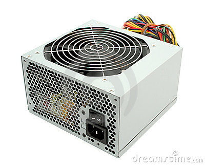 Computer power supply with fan