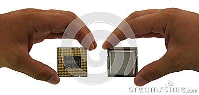 Computer processor in hand