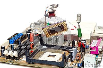 Computer Repair Or Upgrade Royalty Free Stock Photos - Image: 4637448