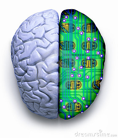 Free Computer Science Brain Technology Royalty Free Stock Photos - 3504718
