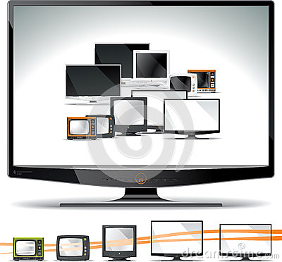 Free Computer Screen Collection - CRT, Plasma, LCD, LED Royalty Free Stock Photography - 31363947