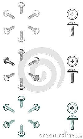 Computer screws