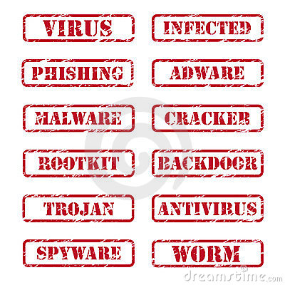 Free Computer Security Stamps Stock Photos - 23726823