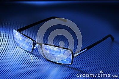Computer Smart Wearable Glasses Technology Stock Photo