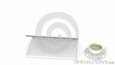 Computer su lavoro royalty illustrazione gratis