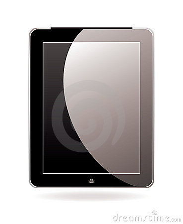 Computer tablet black Editorial Image