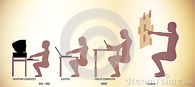 Computer Technology Evolution Timeline Pictogram