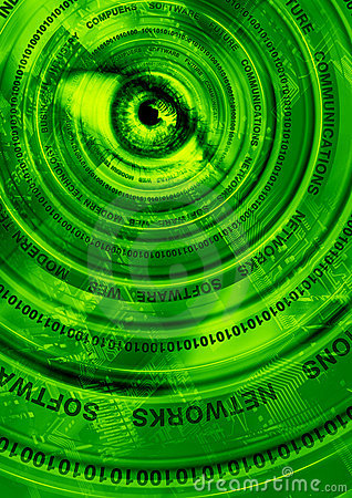 Computer technology green abstraction