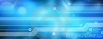 Computer Technology Banner Background