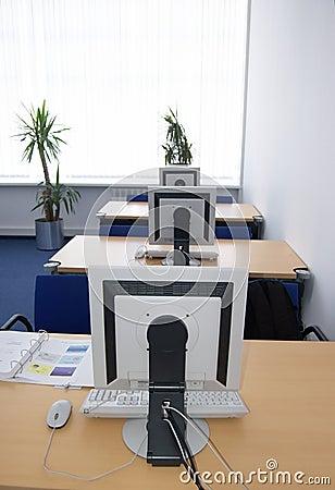 Computer training classroom