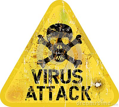 Free Computer Virus Attack Royalty Free Stock Photo - 37935065