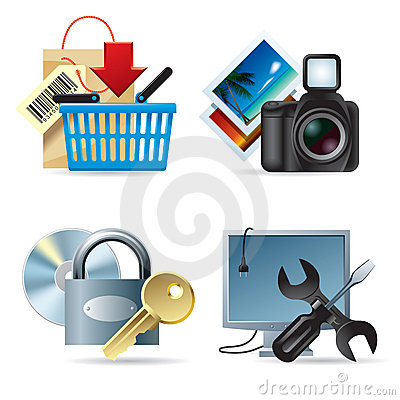 Free Computer & Web Icons II Royalty Free Stock Photography - 3814317