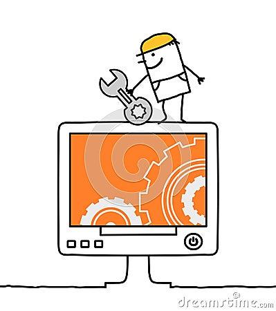 Computer & worker