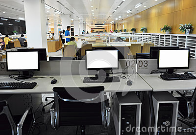 Computers room Editorial Stock Photo
