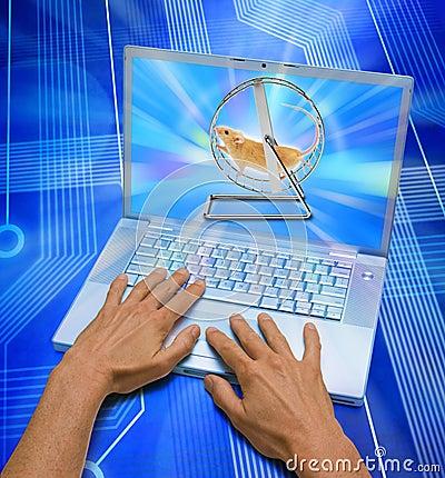 Computertechnologie, die Zeit vergeudet