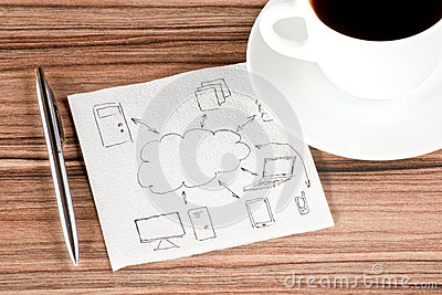 Computing cloud on a napkin