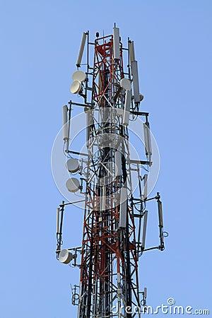 Comunicación de la antena