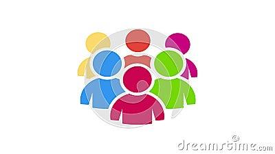 Comunidad del trabajo en equipo. Animación de vídeo almacen de metraje de vídeo