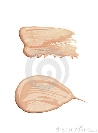 Concealer or tone cream smudged