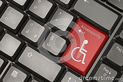 teclado com icone de deficiência