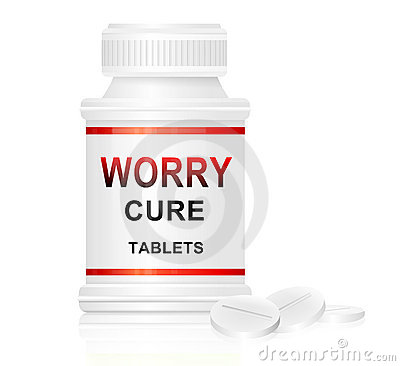 Conceito da cura da preocupação.