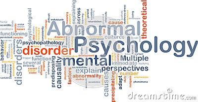 Conceito do fundo da psicologia anormal