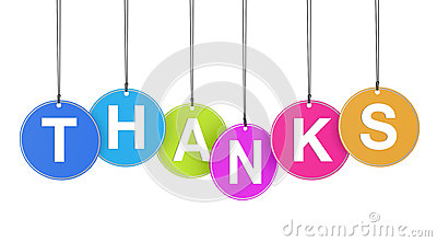 Conceito dos agradecimentos em etiquetas