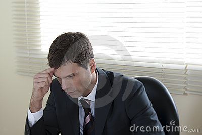 Concentrated Businessman