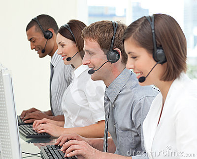 Concentrated customer service agents
