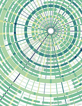 Concentric circles with radial divider background